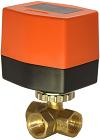 Кран шаровой трехходовой с электроприводом QT3308